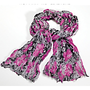 sheer crinkle rose scarf