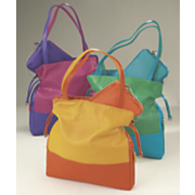drawstring colorblock bag
