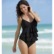 Ruffled Tankini Skirt Bottom and Brief