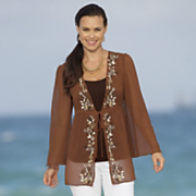 front embroidered jacket