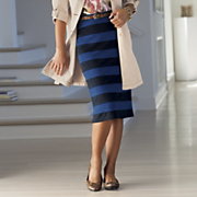 Stripe Pencil Skirt 1