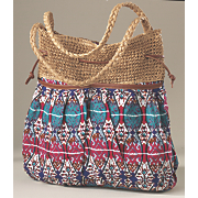 tribal stripe handbag