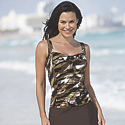 glam tankini top by studio art