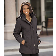 Quilted Parka With Adjustable Waist
