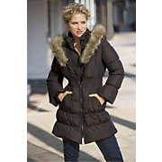 Cinch Waist Down Coat