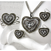 Loving Hearts Tri color Jewelry