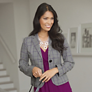 Plaid Blazer 1
