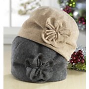 Skull Cap Wool Flower