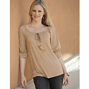 Washable Faux Suede Top