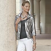 Metallic Jacket Faux Leather