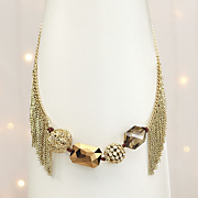 Charm And Fringe Necklace