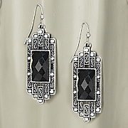 Faux Marcasite Earrings