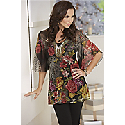Print Embroidery Top