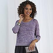 Lurex Boxy Sweater 1