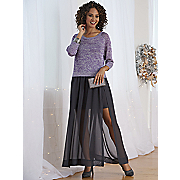 Lurex Sweater and Chiffon Skirt