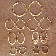 7 Pair Hoop Set
