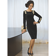 Gold Applique Dress 1