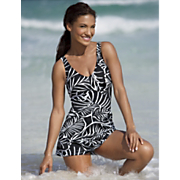 tropical palms swimdress