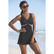 pin dot stripe swimdress