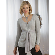Sashed Cable Cardigan