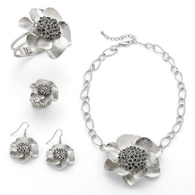 Flower Bangle and Stretch Ring 1