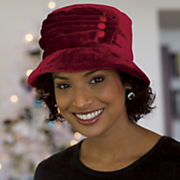 Pleated Velvet Hat