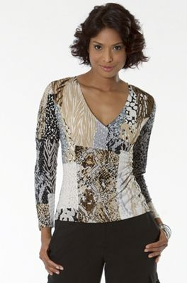 Side Drape Animal Top