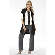 Light Sweater Vest Lace Trim Blouse and Audrey Trouser