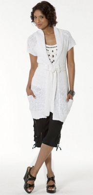 Uptown Downtown Embellished Tank Light Sweater Vest and Silk Crop Pant