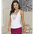 Uptown Downtown Embellished Tank