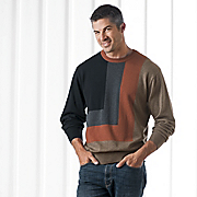 Crew Color Block Sweater