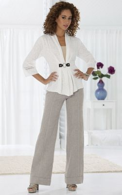 Ring Clasp Sweater and Herringbone Pant
