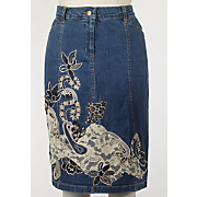animal applique skirt