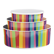 Set Of 3 Striped Bowls