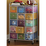15 Drawer Colorful Storage Cart