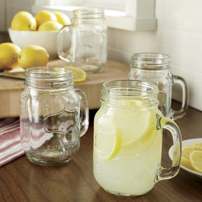 Mugs Canning Jar Set Of 4