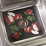 Sink Mat and Strainer Apple