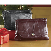 Set Of 2 English Leather Clutch Wallets