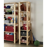 solid wood narrow shelf unit