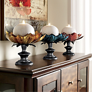 Lotus Candleholders Set Of 3