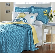 geometric solid chenille bedding