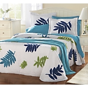 leaf pattern chenille bedding