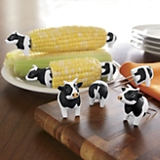 set of 4 cow corn holders