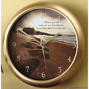Footprints Clock