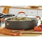 Rachael Ray Hard Anodized Oval Saute Pan 5 Qt Orange