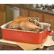 Rachael Ray Red Roaster With Rack