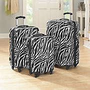 Luggage Zebra 3 Pc Set