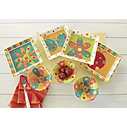 spring brights set of 4 plates