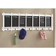 Daily Chalkboard And Coat Rack