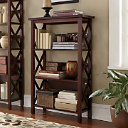 3 shelf Crossbar Bookcase